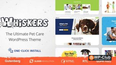Фото Whiskers 1.0.6 — WordPress тема магазина домашних животных/ветклиники