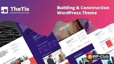 Фото TheTis 1.0.2 — Строительство и архитектура WordPress тема