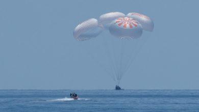 Фото Пилотируемый корабль Crew Dragon успешно приводнился у берегов Флориды
