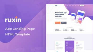 Фото Ruxin 1.0 — App Landing Page HTML Template