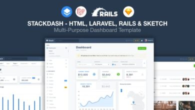 Фото StackDash 1.0 — HTML, Laravel & Rails Dashboard Template