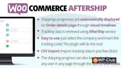 Фото WooCommerce AfterShip 7.8 — плагин WooCommerce позволяет отслеживать перевозоки через сервис AfterShip