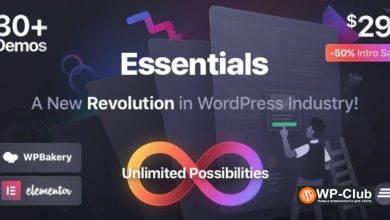 Фото Essentials 1.1.3 — Многоцелевая WordPress тема