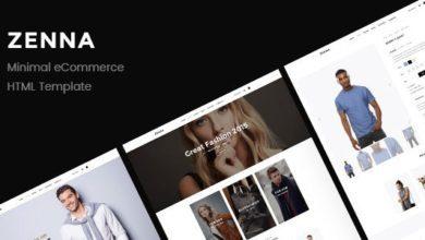 Фото Zenna 1.0 — Minimal E-commerce HTML Template