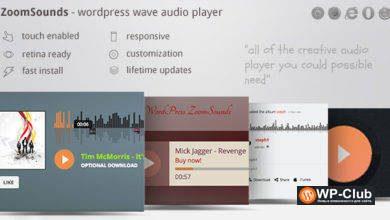 Фото ZoomSounds 6.10 — WordPress Wave Audio Player с плейлистом