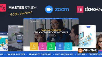 Фото Masterstudy 4.1.2 Nulled — WordPress тема для сайта образования