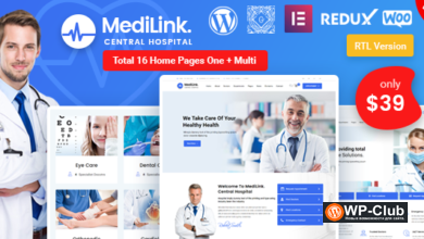Фото Medilink 1.5.1 — WordPress тема медицина и здоровье