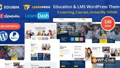 Фото Edubin 6.8.3 — образовательная тема LMS WordPress