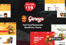 Фото Gloreya 1.8 — WordPress шаблон на тему еды