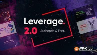 Фото Leverage 2.0.5 — WordPress тема для креативного агентства и портфолио