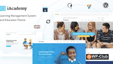 Фото iAcademy 1.6.1 — образовательная WordPress тема для онлайн-обучения