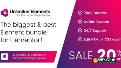 Фото Unlimited Elements for Elementor Page Builder 1.4.62 Nulled — аддоны для Elementor Page Builder