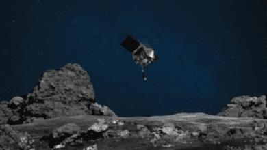 Фото Космический аппарат OSIRIS-REx взял образец грунта астероида