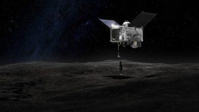 Фото Миссия OSIRIS-REx: контейнер для забора грунта с околоземного астероида Бенну переполнен и теряет часть образцов