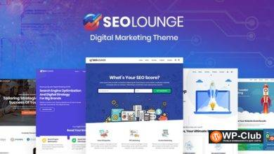 Фото SEOLounge 2.3.0 — WordPress тема для SEO агентств