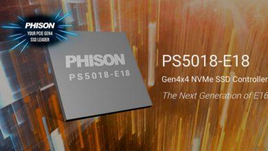 Фото SSD-контроллер Phison E18 обеспечит скорость до 7,4 Гбайт/с