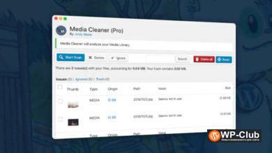 Фото Media Cleaner Pro 6.1.1 Nulled — удаление неиспользуемых файлов из WordPress
