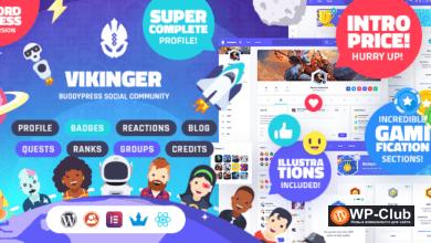 Фото Vikinger 1.1.0 — шаблон сообщества BuddyPress и GamiPress