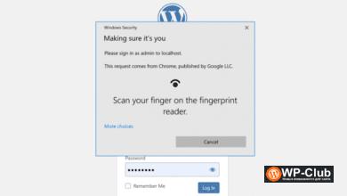 Фото Passwordless WP: плагин для входа в WordPress с помощью Touch ID или Face ID