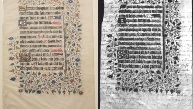 Фото Студенты Рочестерского технологического института нашли скрытый текст на манускрипте XV века с помощью ультрафиолета