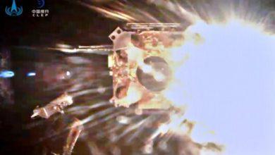 Фото Миссия «Чанъэ-5»: взлетный модуль успешно стартовал с поверхности Луны с образцами грунта
