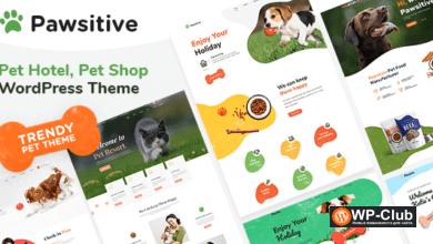 Фото Pawsitive 1.1.0 — тема WordPress для отелей и курортов для домашних животных