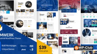 Фото Amwerk 1.0.1 — тема WordPress для промышленности
