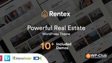 Фото Rentex 1.7.0 — тема WordPress по недвижимости