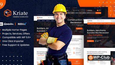 Фото Kriate 1.0 — многоцелевая тема WordPress для промышленного строительства