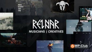 Фото Reinar 1.2.7 NULLED — тема WordPress для творчества и музыки в скандинавском стиле