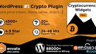 Фото Cryptocurrency Widgets Pro 2.6 — виджеты криптовалют для WordPress