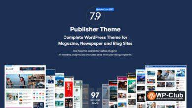 Фото Publisher 7.9.0 — WordPress тема для журналов, блогов и газет
