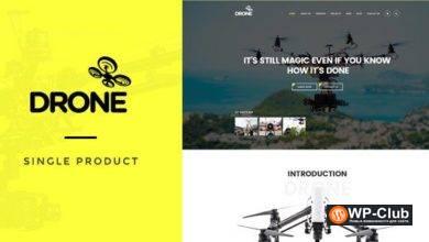 Фото Drone 1.26 — тема WordPress для одного продукта