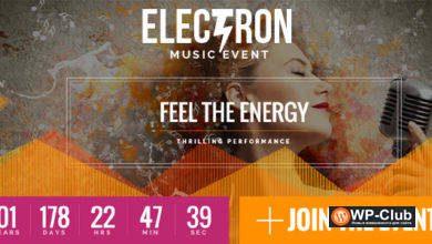 Фото Electron 1.6.3 — WordPress тема для сайтов музыки и танцев