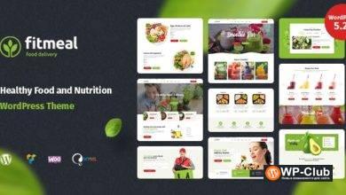 Фото Fitmeal 1.2.5 — WordPress тема по доставке продуктов и здоровому питанию