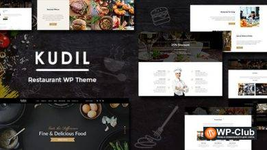 Фото Kudil 2.1 — тема WordPress сайта общественного питания, блог рецептов