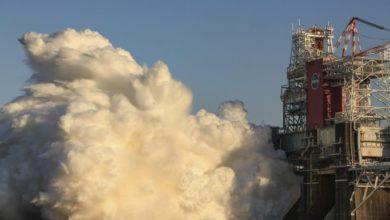 Фото НАСА подвело итоги первых огневых испытаний SLS. Испытания повторят