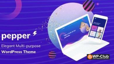 Фото Pepper 1.5 — тема WordPress для домашних страниц, блогов, портфолио, магазинов