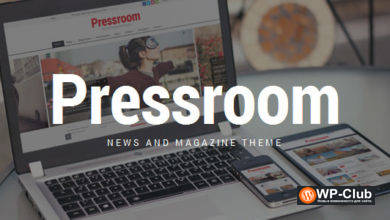 Фото Pressroom 5.2 — WordPress тема новостого сайта и журнала