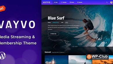 Фото Vayvo 3.5 — WordPress тема онлайн видео/аудио с подпиской
